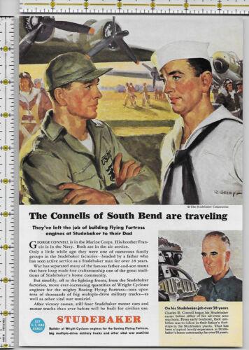 Studebaker Corporation  WWII 1944 magazine print ad