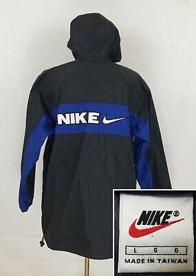 Vintage 90's Nike Men's L Windbreaker Spell Out 1/2 Zip Jacket Swoosh Size Large
