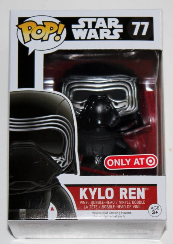 STAR WARS THE FORCE AWAKENS KYLO REN HOODLESS FUNKO POP VINYL FIGURE EXCLUSIVE