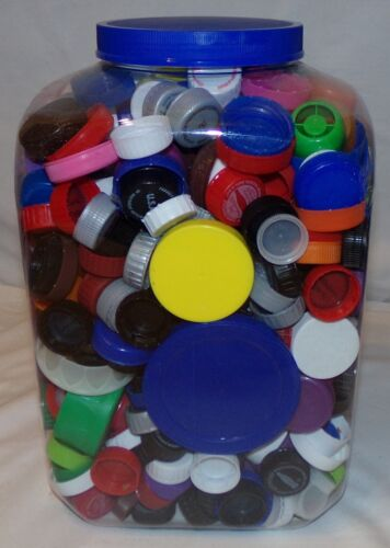 HUGE Lot Lids Caps Craft 780 pcs Plastic Variety