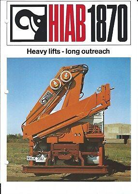 Equipment Brochure - Hiab - 1870 - Heavy Lift Crane Loader For Truck E4782