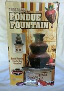 Chocolate Fondue Fountain Used