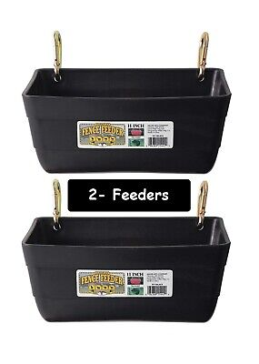 Black Feeders Little Giant Fence Feeders With Clips 11 - 2 Feeders 4420
