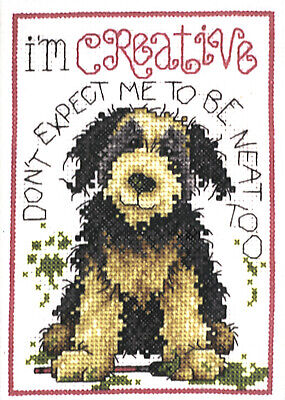 Cross Stitch Kit ~ Design Works Creative Dog Funny Saying #DW9782 SALE! Creative Stitch Designs