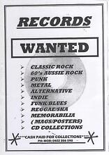 WANTED - CASH PAID FOR RECORDS & CD COLLECTIONS East Maitland Maitland Area Preview