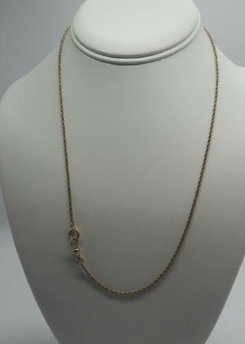 "Vintage 10k Gold  Watch Chain, D & C 4..8 grams 20.5"""
