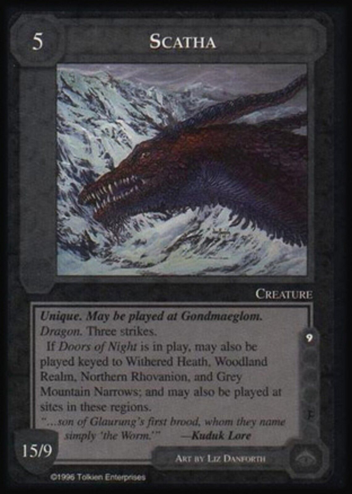 MECCG CCG Middle-earth Scorba The Dragons TD MINT