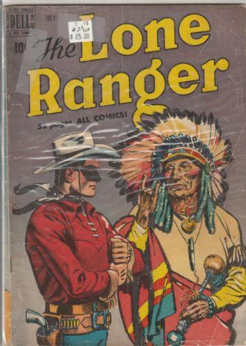 1950 Dell TV comic, Lone Ranger #25 Classic Cover