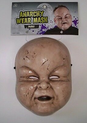 ADULT BABY PUDGE CHUBBY PUDGY CHEEKS TODDLER CREEPY DOLL MASK COSTUME - Creepy Toddler Costumes