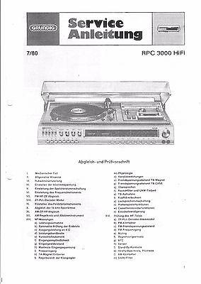 Grundig Service Manual für  RPC 3000 HiFi