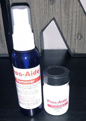 Pros-Aide II Body Adhesive Professional Special FX Makeup Artist  1 oz + Remover (Adhesive Makeup)