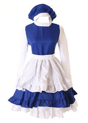 MN-90 Tomoyo Daidouji Card Captor Sakura blau weiß Lolita Kleid Cosplay - Cardcaptor Sakura Cosplay Kostüm