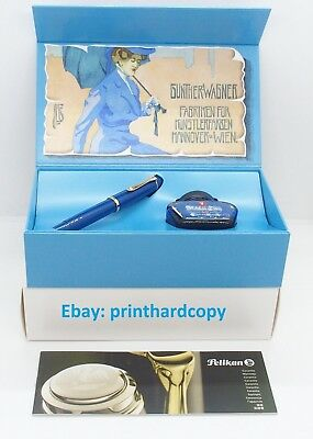 Special Edition Pelikan M120 Iconic Blue Fountain pen Engrave Nib 2018