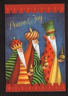 Three Wise Men Christmas Card--Peace & Joy
