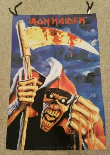 1994 Iron Maiden Flag Rare Vtg Tapestry Banner Poster tour t shirt tix guitar
