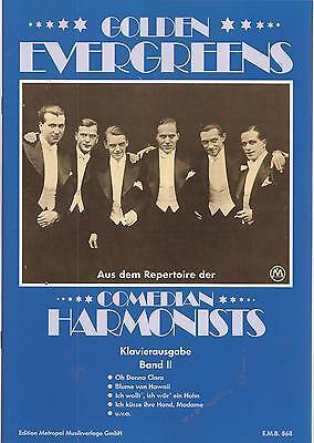 Klavier Noten - 14 GOLDEN EVERGREENS Band II - der COMEDIAN HARMONISTS -