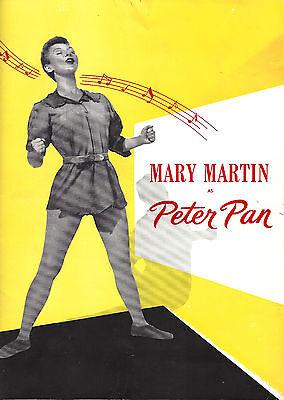 "Mary Martin ""PETER PAN"" Cyril Ritchard / Jule Styne, Comden & Green 1954 Program"