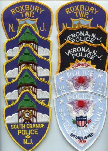 SOUTH ORANGE PLAINFIELD VERONA ROXBURY NEW JERSEY 10 Police Patches POLICE PATCH