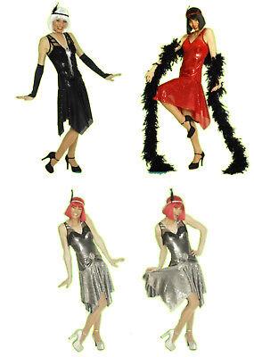 2tlg Damen Kostüm CHARLESTON 20er Jahre Kleid Mafia - 20er Jahre Mafia Kostüm