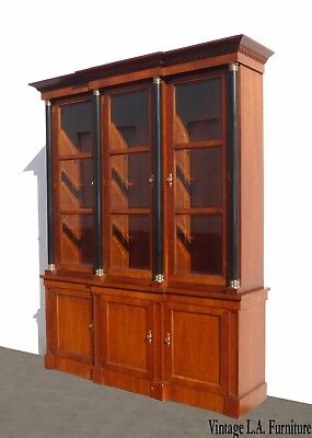 Vintage Baker Furniture Federal Style Solid Wood China Cabinet ~Breakfront Curio
