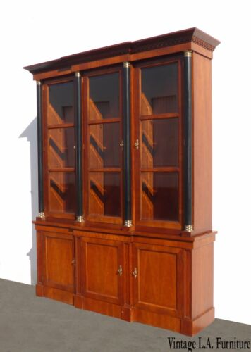Vintage China Cabinet by Baker Furniture Federal Style ~ Breakfront Curio
