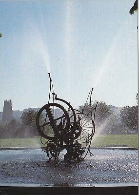 Alte Postkarte - Fribourg - De Jean Tinguely: fontaine en hommage à Jo Siffert