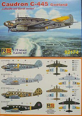Neuheit Waffen (Caudron C-445 Goeland  Luftwaffe, RS- Models, Plastik, Neuheit)