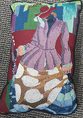 (Ivey Hayes Tapestry Throw Pillow SISTER GIRL/African American/Black Americana )