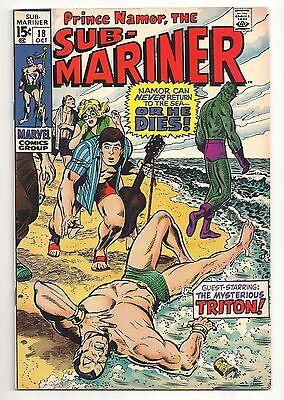 Sub-Mariner #18 Oct 1969 VF+ 8.5 Marvel Comics Triton Kormok