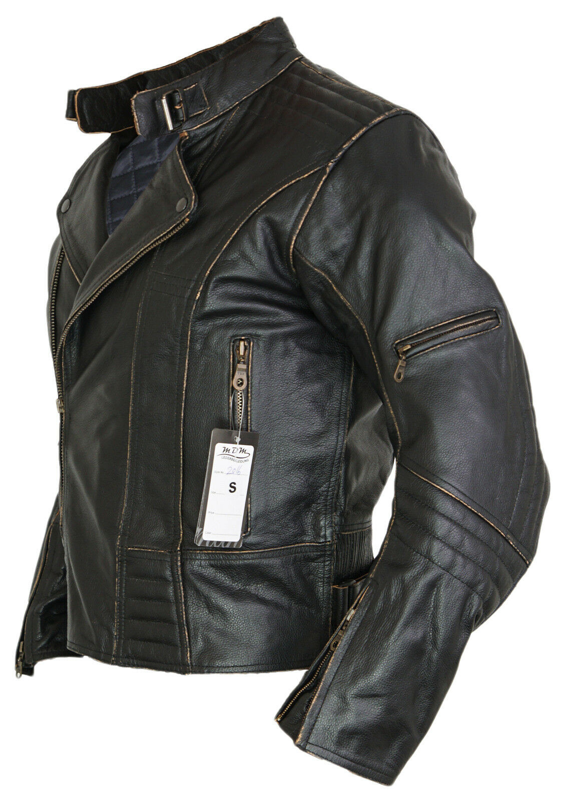 herren motorrad lederjacke biker retro rocker chopper. Black Bedroom Furniture Sets. Home Design Ideas