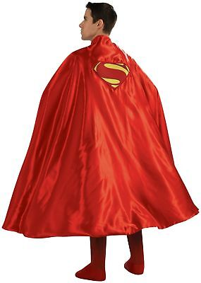 Dlx Superman Halloween Costume Cape Adult Red Man of Steel Dawn of Justice Mens](Super Man Cape)