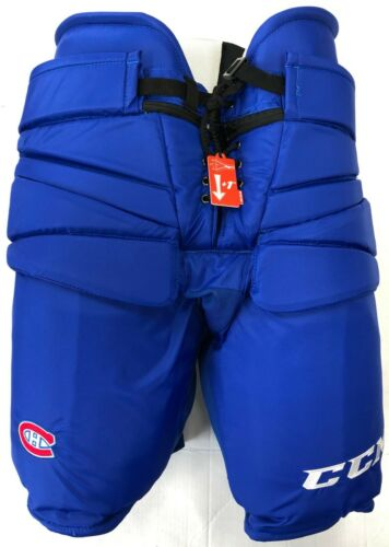 New CCM Pro Stock Montreal Canadiens hockey goalie pant royal XL HPG14A Fit 3 +2