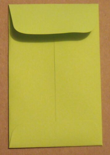#A-1 LIME GREEN COIN ENVELOPES - 2.25 X 3.5 Inches - Credit Card Size