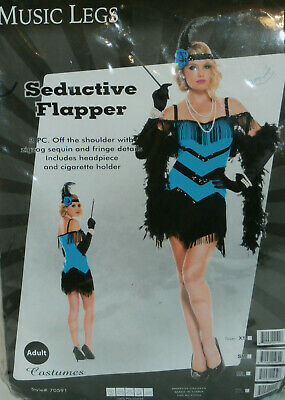 New Music Legs 70591 Sequin Seductive Flapper Costume Adult XL - Seductive Costume