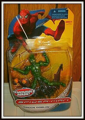 Spiderman 3 New Goblin Mask (Green Goblin Action Figure with removable Mask, Spider Man 3 Movie,)