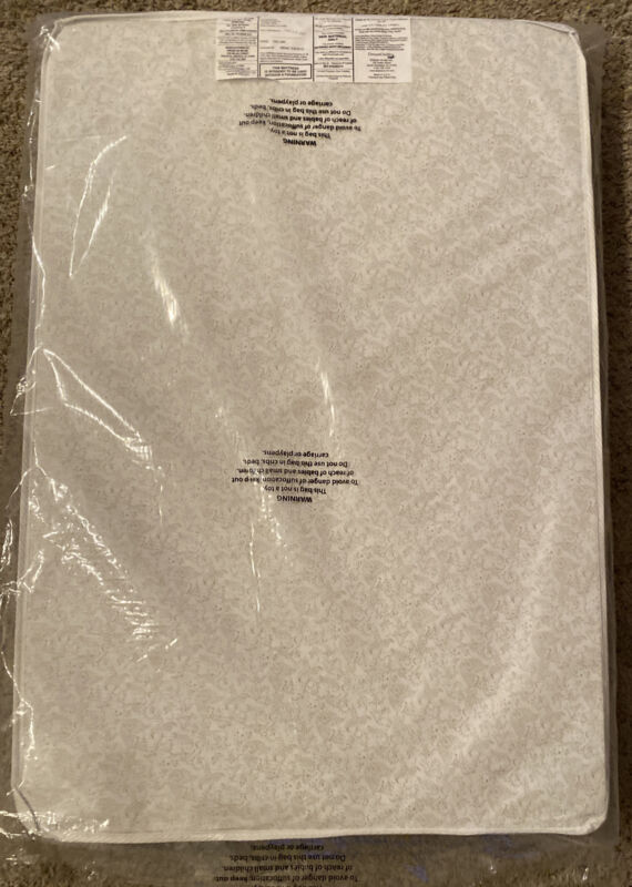 """Dream On Me 3"""" Foam Pack and Play Playard Mattress White Made in USA 37.5"""" Long"""