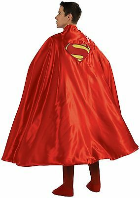 Rubie's Costume Deluxe Adult Cape with Embroidered Superman Logo Red One Size](Rubies Costume Sizing)