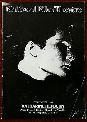 National Film Theatre December 1984, Katherine Hepburn, Programme 1984