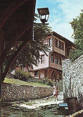 Alte Postkarte - Plovdiv - Das Haus in dem Lamartina im Jahre 1933 gelebt hat