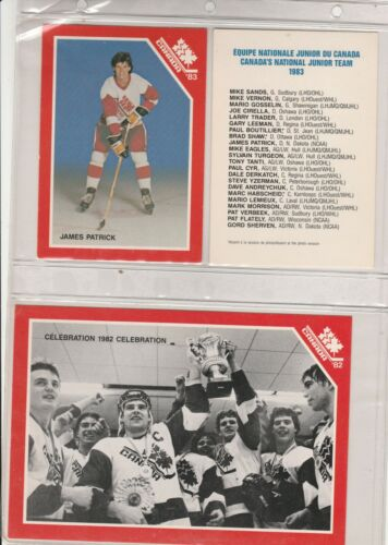 1983 CANADA WORLD JUNIORS CARD PHOTOS ~ 7 DIFFERENT