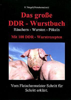 Das große DDR Wurstbuch (Wurstrezepte, Hausschlachten) Mängelexemplar