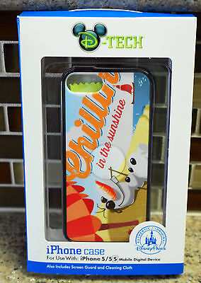 New Disney Parks Frozen OLAF iPhone 5/5S Smartphone Cell Phone Clip Case
