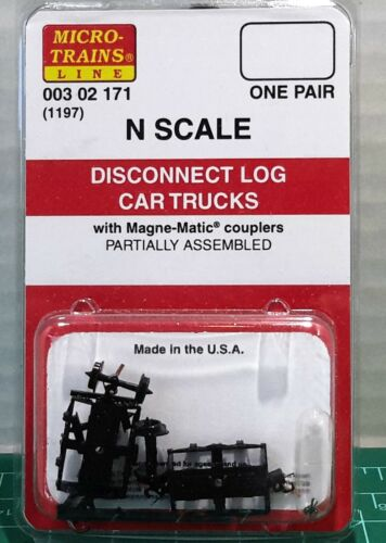 N Scale Micro Trains Logging Disconnect Trucks One Pair Item #00302171 (1197)