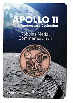 1969-2019 Apollo 11 Robbins Medals 1 oz Copper Antiqued Medal Gem BU SKU54912