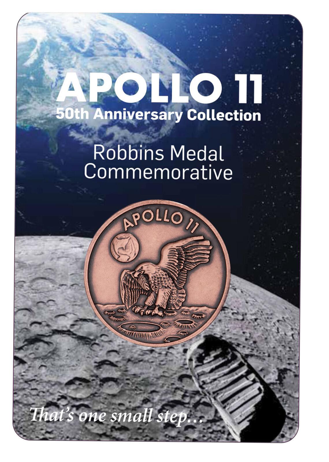 1969-2019 Apollo 11 Robbins Medals 1 oz Copper Antiqued Medal Gem BU SKU54912
