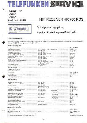 Telefunken Service Manual für HR 780 RDS