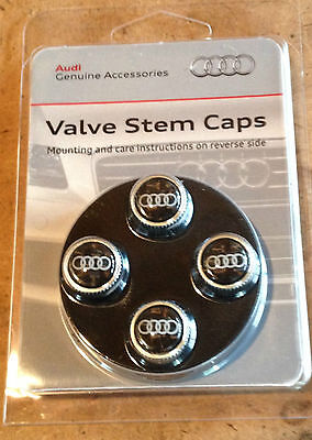 Genuine Audi Accessory Carbon Fiber Tire Valve Stem Caps   FITS ALL MODELS