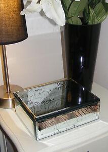 Mirror Glass Jewellery Trinket Box - French Style Glory Keepsakes - JB38