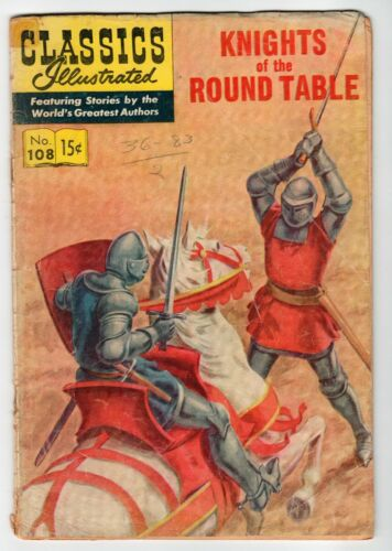 Classics Illustrated KNIGHTS OF THE ROUND TABLE No.108 - FA Vintage Comic