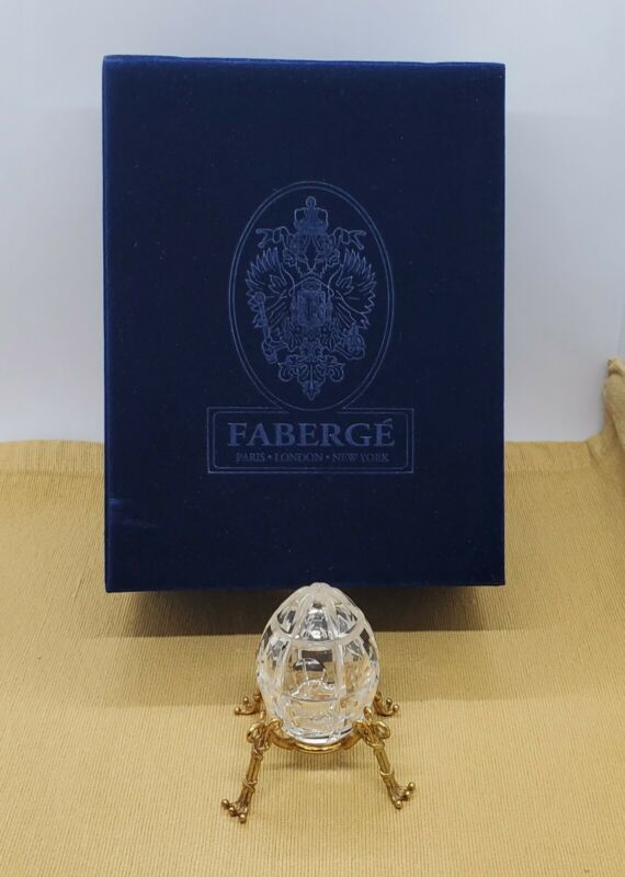 Faberge Imperial Collection Crystal Millenium Egg #0730~1995..Pre-owned~Rd Desc